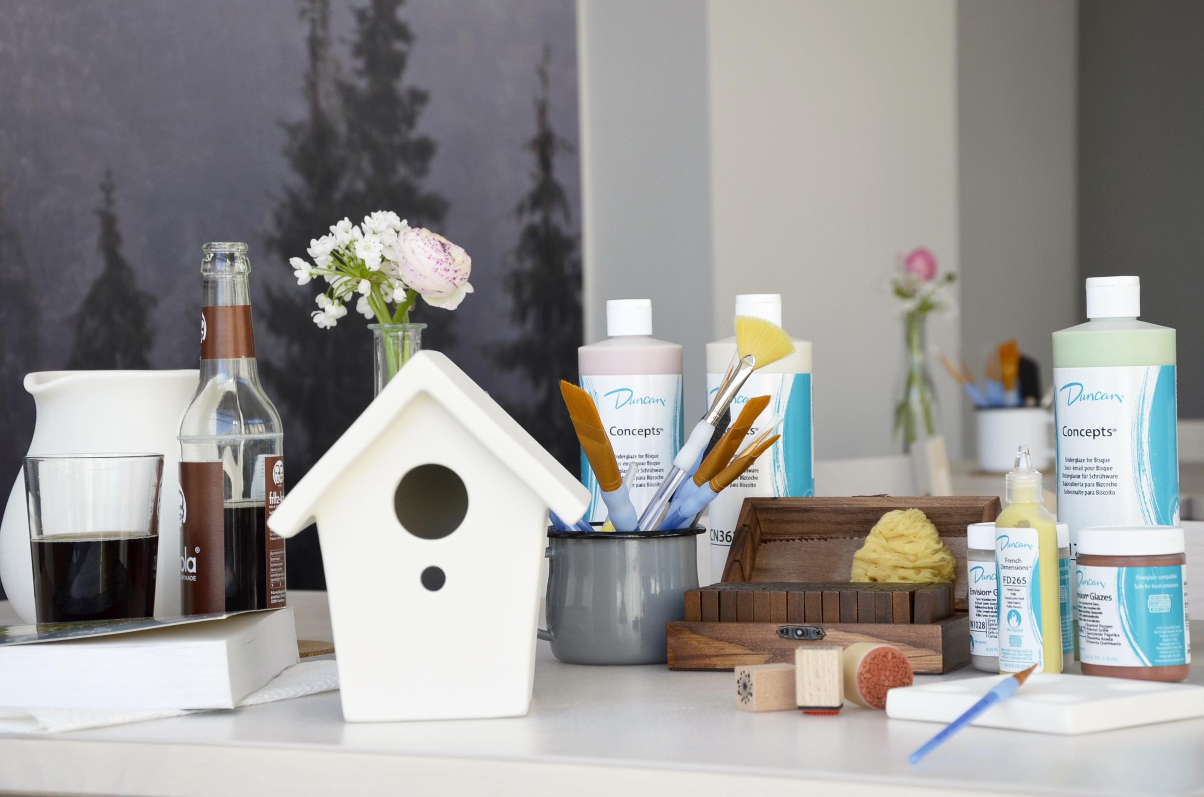 keramik selbst bemalen lieblingswerk. Black Bedroom Furniture Sets. Home Design Ideas